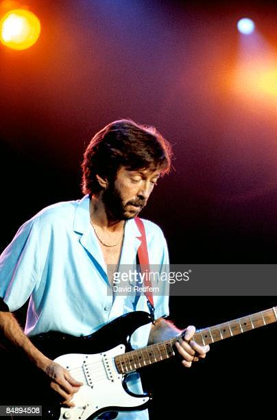 ARENA Photo of Eric CLAPTON performing live onstage playing Fender Stratocaster guitar 'Blackie'