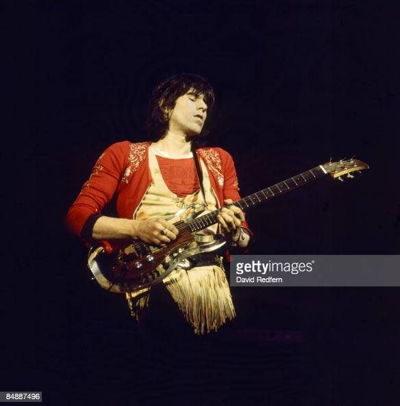 HALL Photo of Keith RICHARDS and ROLLING STONES Keith Richards performing live onstage playing Ampeg Dan Armstrong perspex guitar