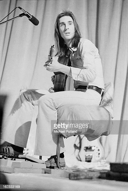 English guitarist Mike Rutherford performing with rock group Genesis at Newcastle City Hall 1st October 1972