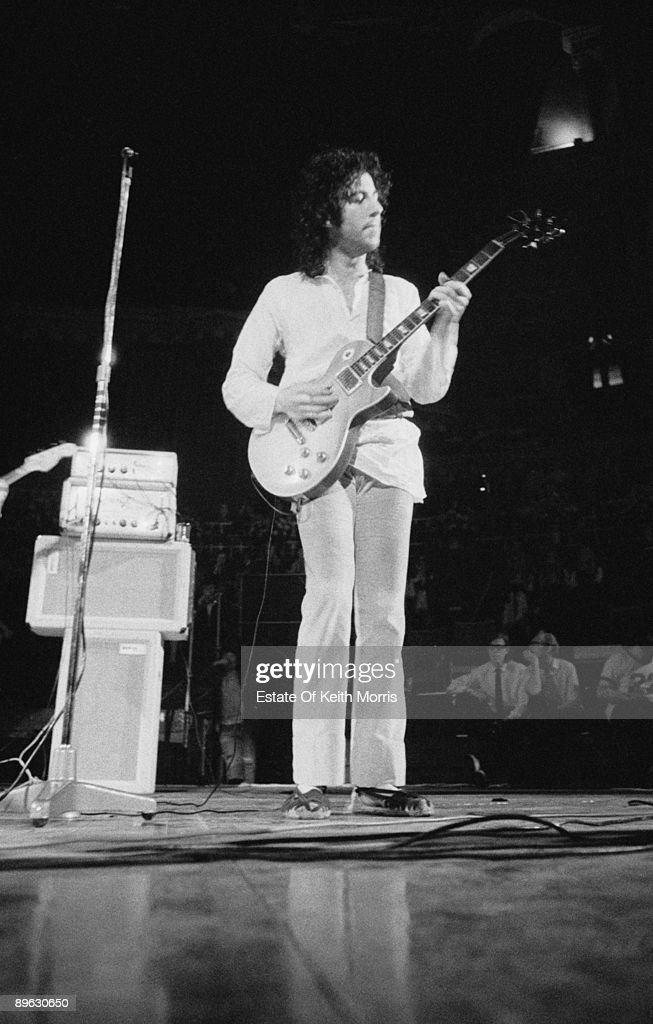 English guitarist Peter Green performing with Fleetwood Mac at the Royal Albert Hall, London, 22nd April 1969.