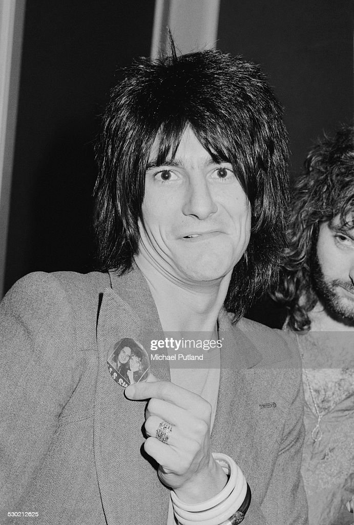 English guitarist Ron Wood of rock group Faces , 26th September 1974.