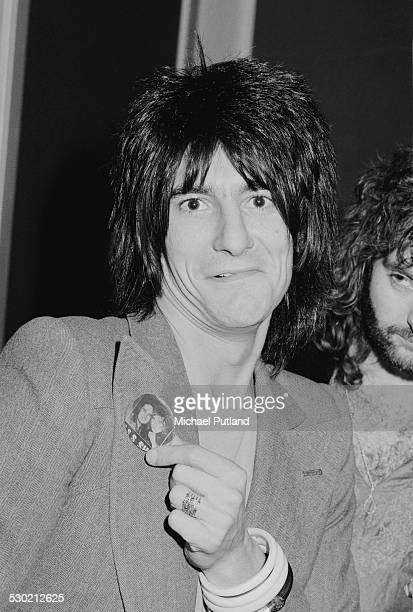 English guitarist Ron Wood of rock group Faces 26th September 1974
