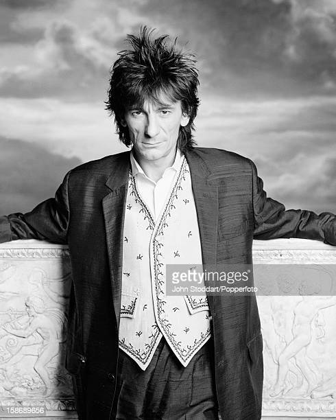 English guitarist Ronnie Wood of The Rolling Stones 1989