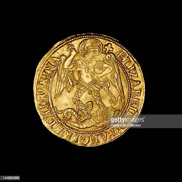 English hammered gold angel Coin 1559Ð1578 Elizabeth I