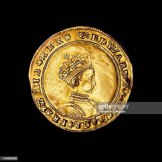 English hammered gold half sovereign coin 1549Ð1550 Edward VI