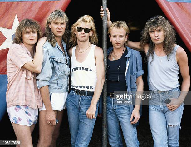English heavy metal group Def Leppard circa 1985