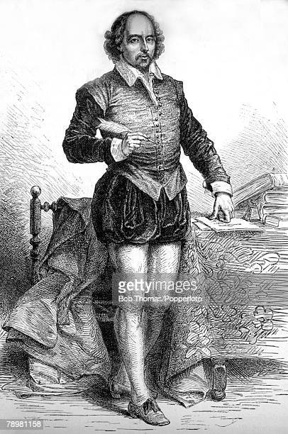 circa 1600 This is an illustration of William Shakespeare English playwright poet and actor the greatest English dramatist