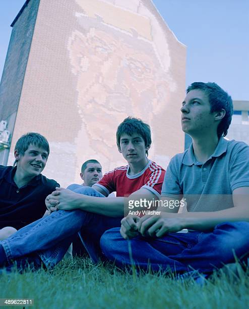 English indie rock band Arctic Monkeys 2006 Left to right guitarist Jamie Cook bassist Andy Nicholson singer Alex Turner and drummer Matt Helders