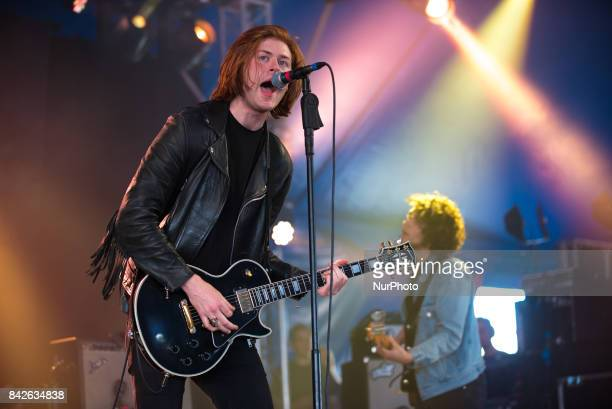 English indie rock band The Amazons perform live on the first day of Reading Festival Reading on August 25 2017