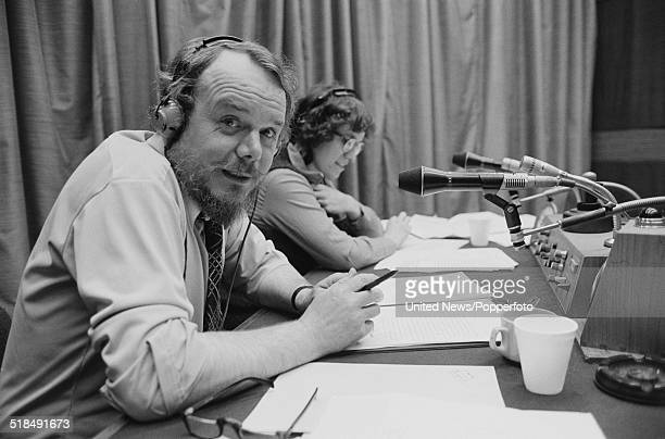 English journalist and broadcaster Brian Redhead who presents the Today programme on BBC Radio 4 pictured in BBC Broadcasting House in London on 10th...