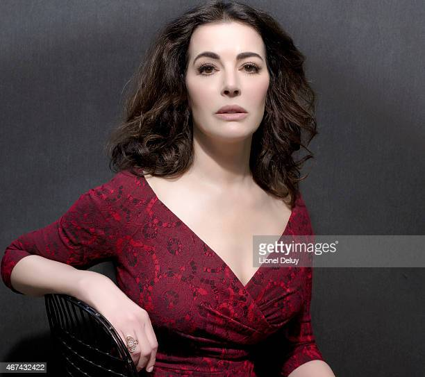 English journalist broadcaster television personality gourmet and food writer Nigella Lawson is photographed for The Taste on February 1 2015 in Los...