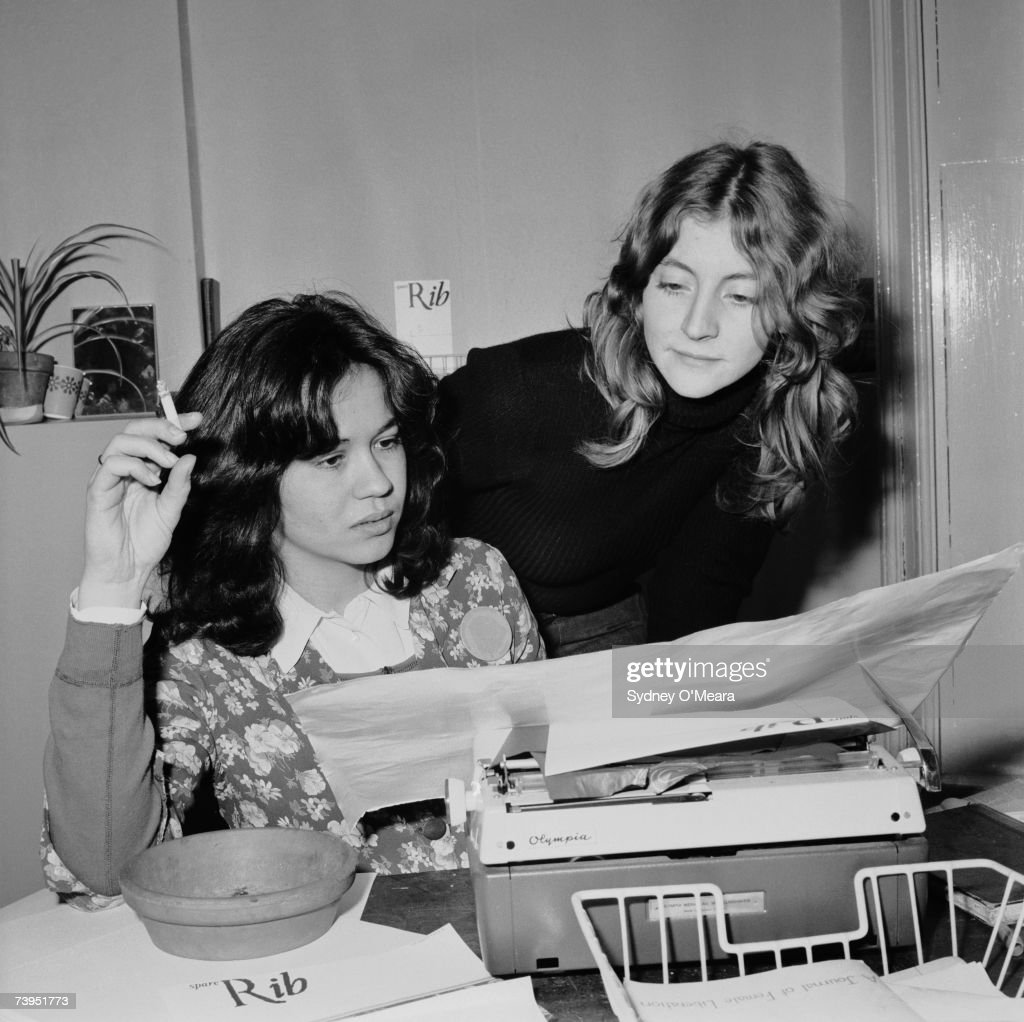 English journalists and publishers Marsha Rowe (left) and Rosie Boycott, founders of the feminist magazine 'Spare Rib', at the magazine's offices, 19th June 1972.
