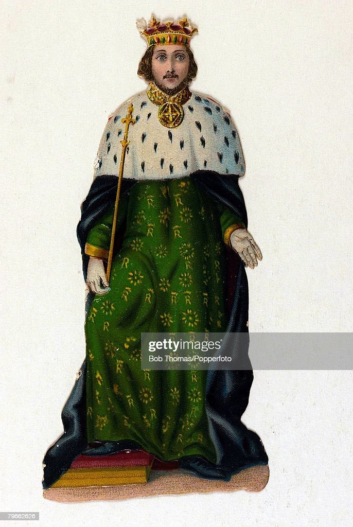 English Kings, Colour illustration, King Richard II of England,