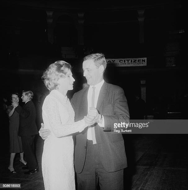 English Labour politician Anthony Wedgwood Benn and his wife educator and writer Caroline Benn enjoy a dance at the Labour Conference Party 13th...