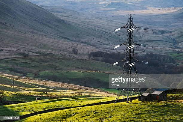 English Lake District: electricity pylon