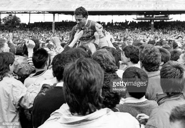 English League Division Four match at Ninian Park Cardiff City 2 v Crewe Alexandra 0 Cardiff City's Alan Curtis is chaired from the field by...