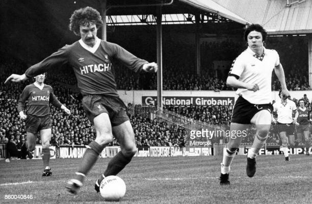 English League Division One match at White Hart Lane Tottenham Hotspur 2 v Liverpool 0 Terry McDermott turns the ball neatly in to the box during an...