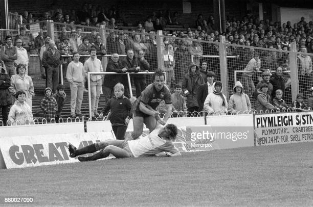 English League Division Three match at Home Park Plymouth Argyle 0 1 Reading 24th August 1985