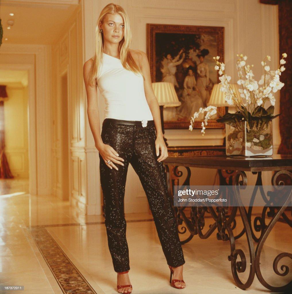 English make up artist and fashion model Jemma Kidd, 2001.
