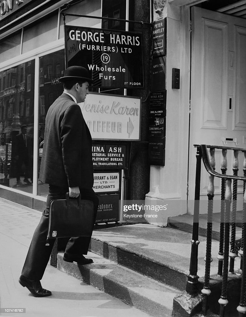 English Man Wearing Bowler Hat In London
