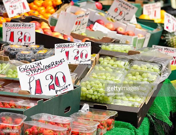 Anglais produits frais du marché