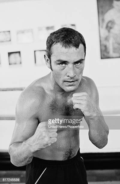 English Middleweight champion boxer Alan Minter pictured in a training ring on 2nd September 1980