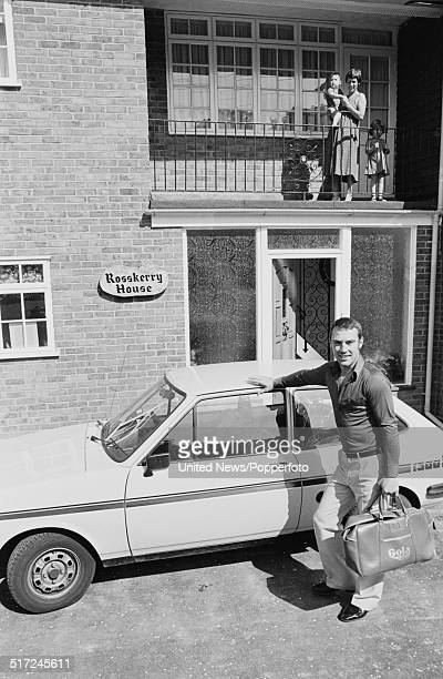 English Middleweight champion boxer Alan Minter pictured standing beside a Ford Fiesta 1300S on 2nd September 1980