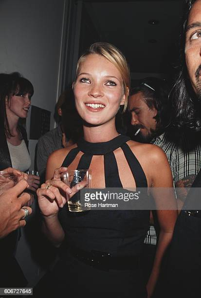 English model Kate Moss at the Danziger Gallery to launch 'The Kate Moss Book' New York City USA September 11 1995