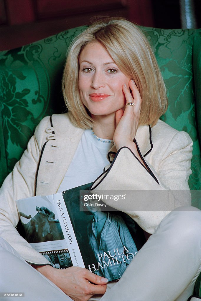English model Paula Hamilton with her recent autobiography 'Instructions Not Included' UK 9th May 1996