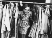 English model Twiggy at the launch of her own range of clothing London 16th February 1967