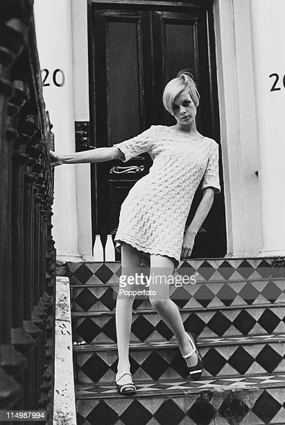 English model Twiggy in a minidress London 6th August 1966