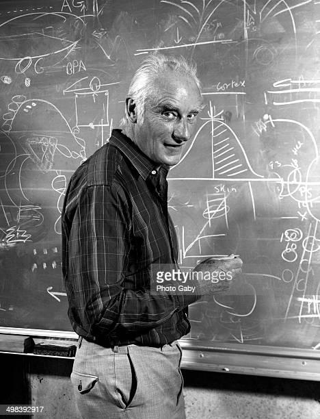 English molecular biologist Francis Crick San Diego California 1980