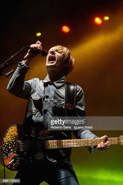 English musician and author Crispian Mills lead the Kula Shaker in concert at Festa Reggio on August 23 2016 in Reggio nell'Emilia Italy