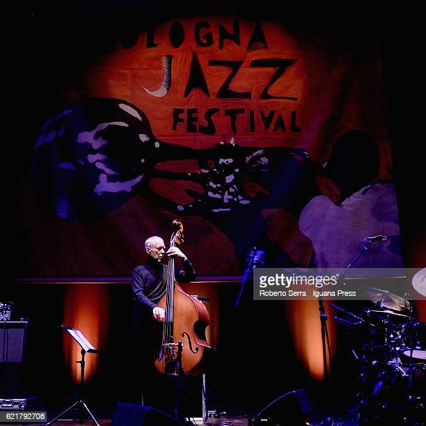 English musician and author Dave Holland performs with his quartet 'Aziza' for Bologna Jazz Festival at Auditorium Unipol on November 8 2016 in...
