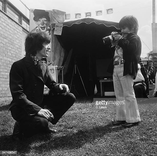 English musician and bassist for The Rolling Stones Bill Wyman and his son Stephen at the Basildon Garden Fete 29th May 1967