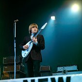 POOL Photo of VOX GUITARS and Brian JONES and ROLLING STONES performing with the Rolling Stones performing live onstage at NME Poll winners party...