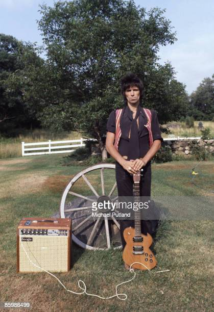 English musician and singer Keith Richards at his home in upstate New York 1978 The picture was taken during the period of his drug bust in Canada...