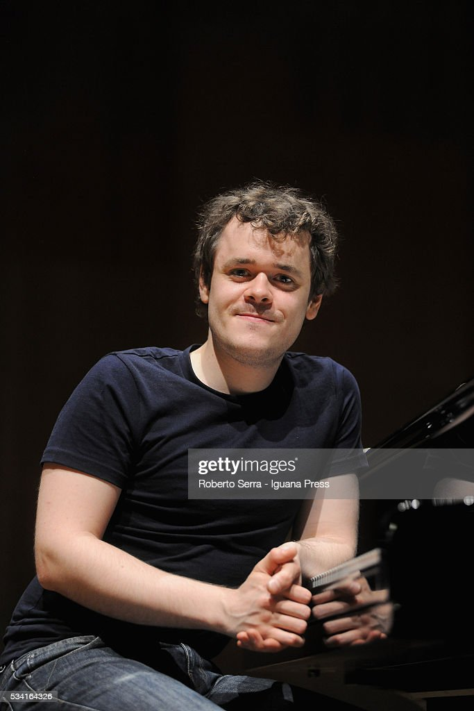 English musician Benjamin Grosvenor have his rehearsal before to perform his concert for Bologna Festival at Auditorium Manzoni on May 25, 2016 in Bologna, Italy.