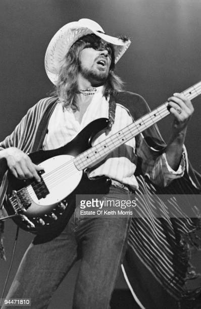 English musician Boz Burrell performs live with Bad Company at Earls Court in London 1978