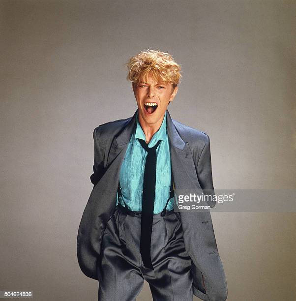 English musician David Bowie is photographed for Self Assignment on January 15 1983 in Los Angeles California
