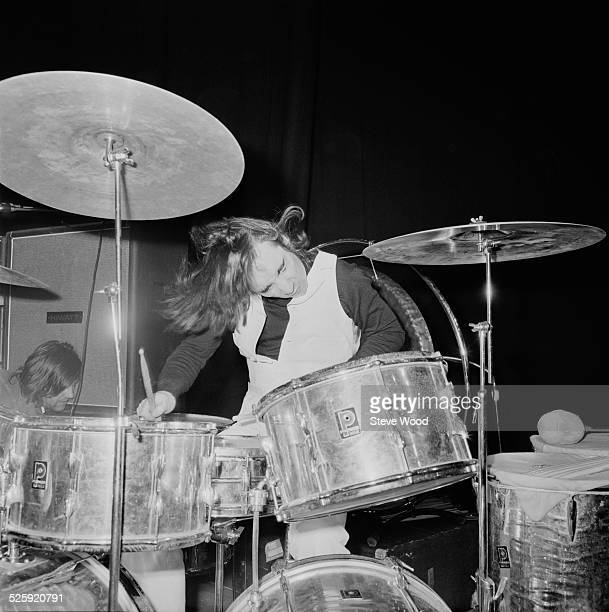 English musician Keith Moon during rehearsals with The Who at the Coliseum Theatre London 14th December 1969