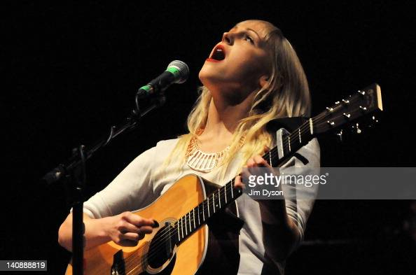 English musician Laura Marling performs live on stage at HMV Hammersmith Apollo on March 7 2012 in London United Kingdom
