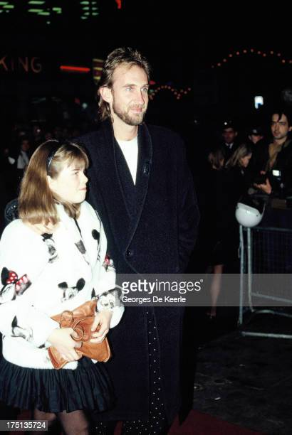 English musician Mike Rutherford of Genesis and his daughter Kate Rutherford in 1990 ca in London England