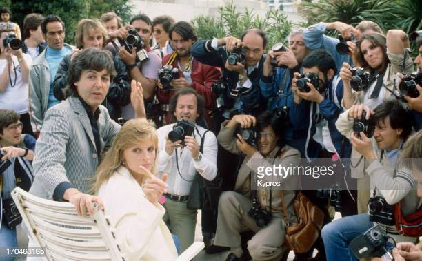 English musician Paul Mccartney and his wife Linda at the Cannes Film Festival in Cannes France 15th May 1980