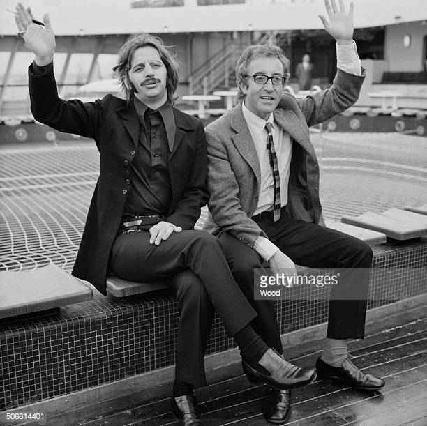 English musician singer and songwriter Ringo Starr and English film actor and comedian Peter Sellers on board the Cruise Ship 'Queen Elizabeth II'...