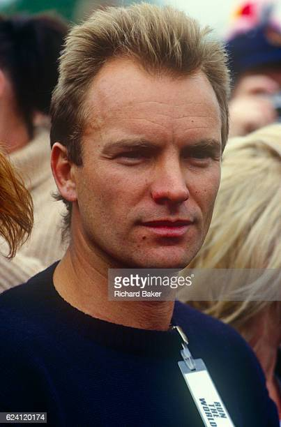 English musician Sting appears at the first Sport Aid event in May 1986 at London's Hyde Park England Sport Aid was a sportthemed campaign for...