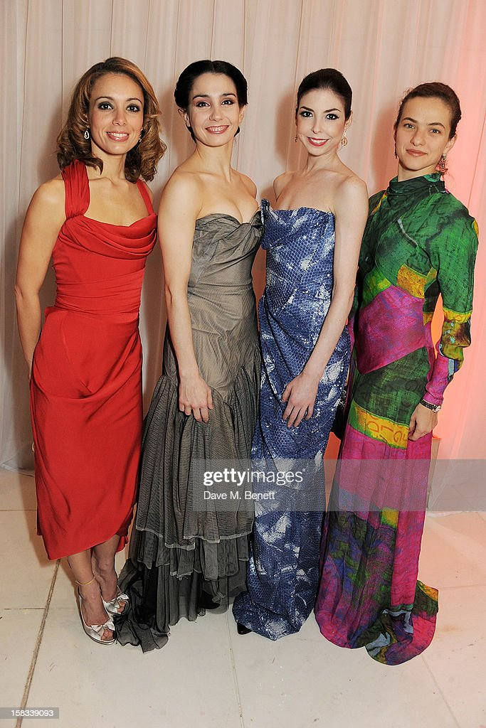 English National Ballet dancers Fernanda Oliveira, Tamara Rojo, Bridgett Zehr and Elena Glurdjidze attend the English National Ballet Christmas Party at St Martins Lane Hotel on December 13, 2012 in London, England.