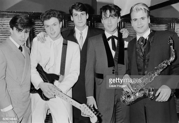 English newromantic pop group Spandau Ballet May 1983 Left to right John Keeble Gary Kemp Tony Hadley Martin Kemp Steve Norman