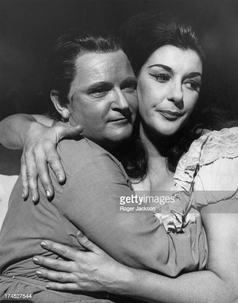 English operatic tenor Charles Craig as 'Sergei' and Australian operatic soprano Marie Collier as 'Katerina' rehearse the bed scene from...