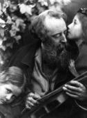 English painter George Frederick Watts seen in a photograph by the British photographer Julia Margaret Cameron The image is entitled 'Whisper Of The...